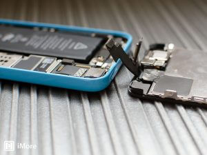 Broken iPhone being repaired in Northampton workshop