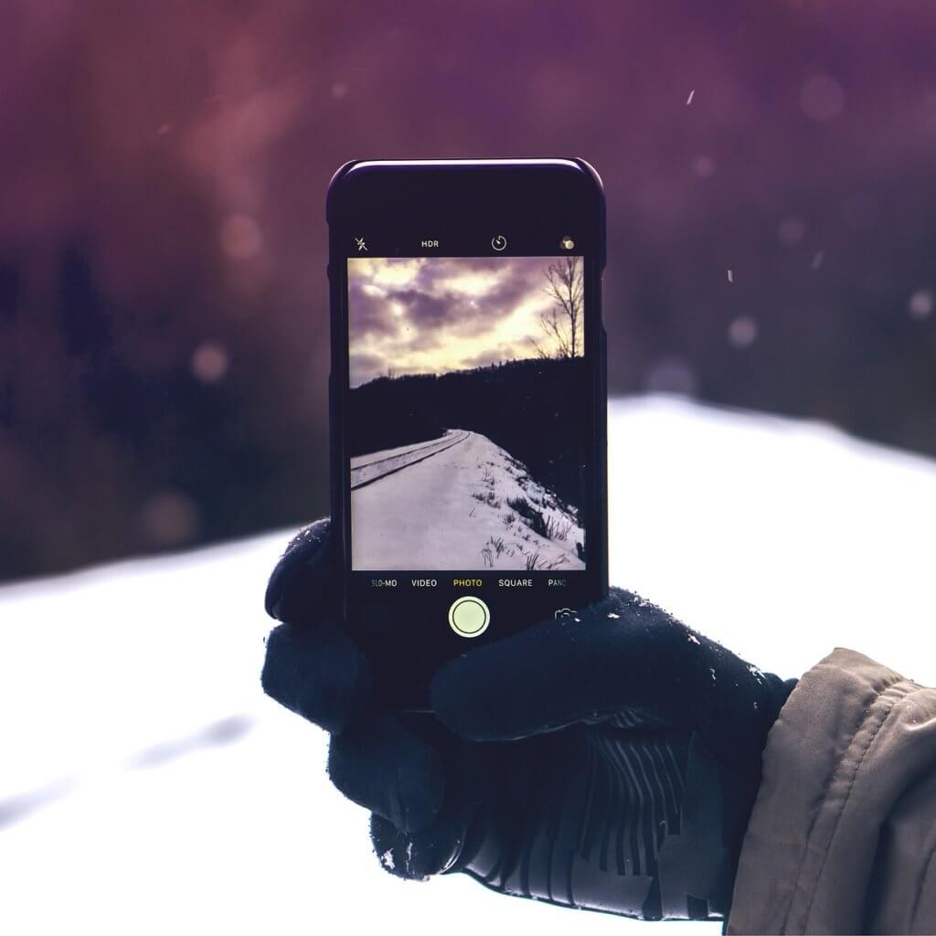 iphone in winter